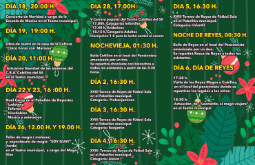 Programación de las Fiestas